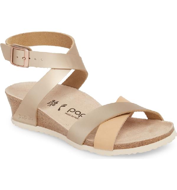 4878f16f6 Birkenstock Lola Wedge Sandal In Frosted Metallic Rose | ModeSens