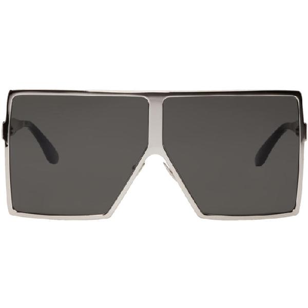 99c09d339d8b Saint Laurent Women's Betty Oversized Square Shield Sunglasses, 68Mm In 006  Silver
