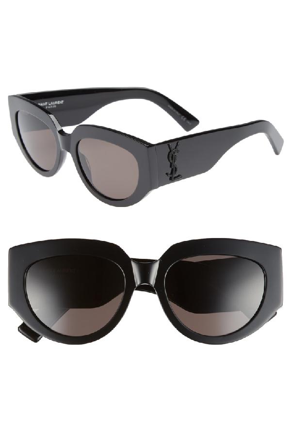 ff87affd53 Saint Laurent Cat-Eye Acetate Sunglasses W  Ysl Pin
