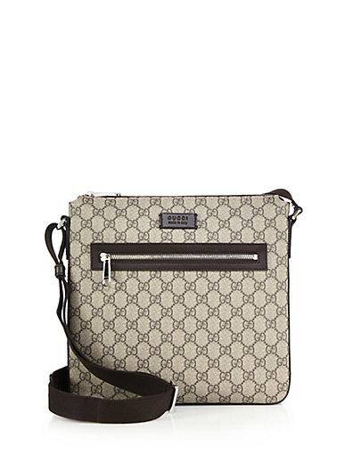 e1a335fedb3 Gucci Gg Supreme Canvas Flat Messenger Bag In Neutrals | ModeSens