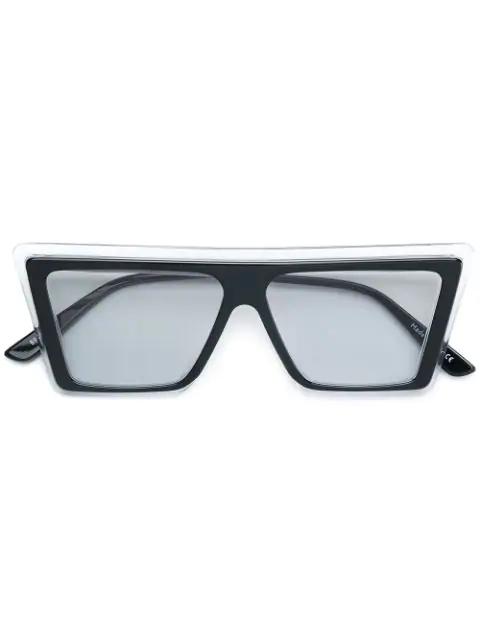 Christian Roth Cekto D-frame Sunglasses In Black