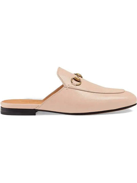 Gucci Princetown Horsebit-Detailed Leather Slippers In 5909 Pink