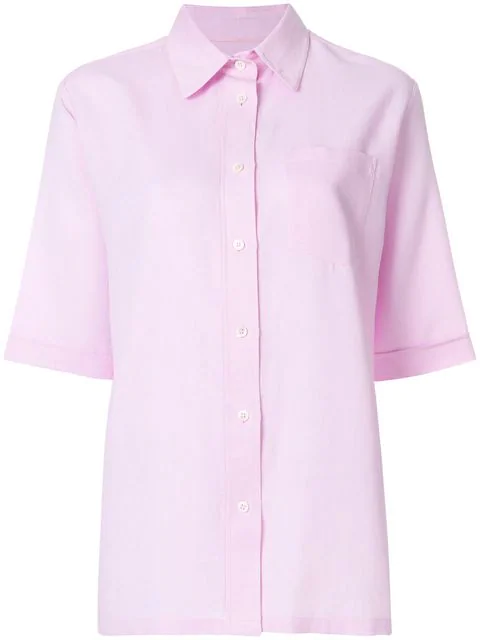 Holland & Holland Chest Pocket Shirt In Pink