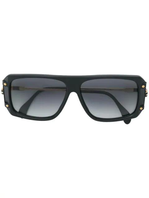 Cazal Square Frame Sunglasses In Black