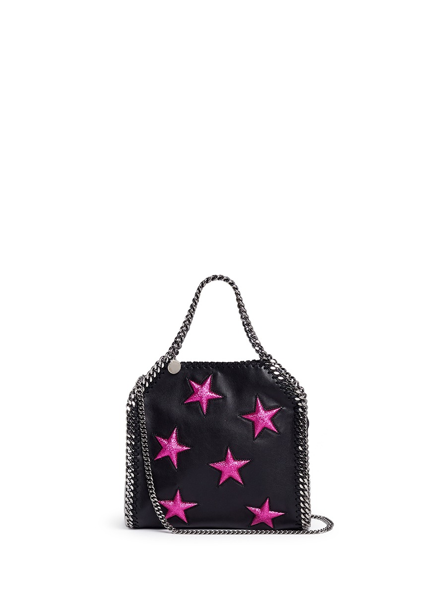 b0d8dffd6006 Stella Mccartney Mini 3Chain Falabella Stars Shoulder Bag