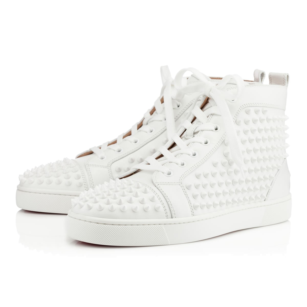 d446d4cea329 Christian Louboutin Louboutin Yang Louis Calf-Laminato Dino- Spikes Ray In  White