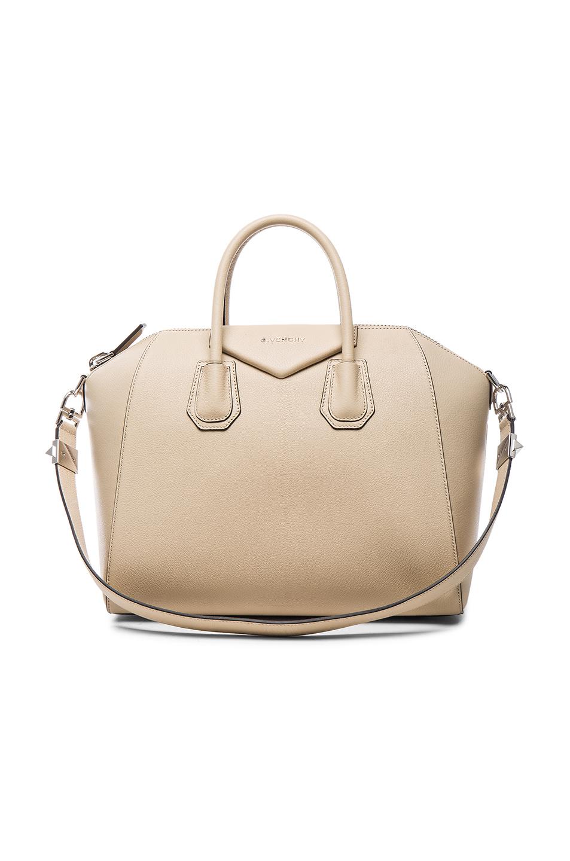 Givenchy  Medium Antigona  Sugar Leather Satchel In Mastic  ce9e29853e364