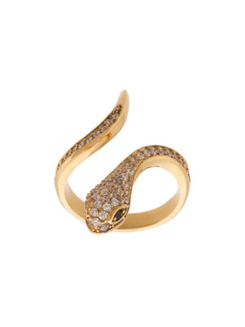 Nialaya Jewelry Skyfall Snake Ring In Metallic