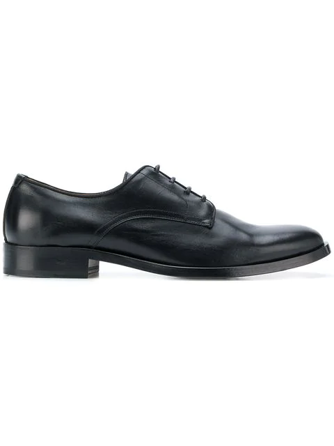 Givenchy Men's Classic Leather Lace Up Laced Formal Shoes Logo Derby In Black