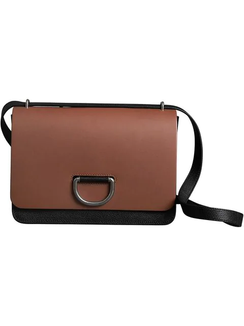 Burberry The Medium D-ring Shoulder Bag In Tan/black