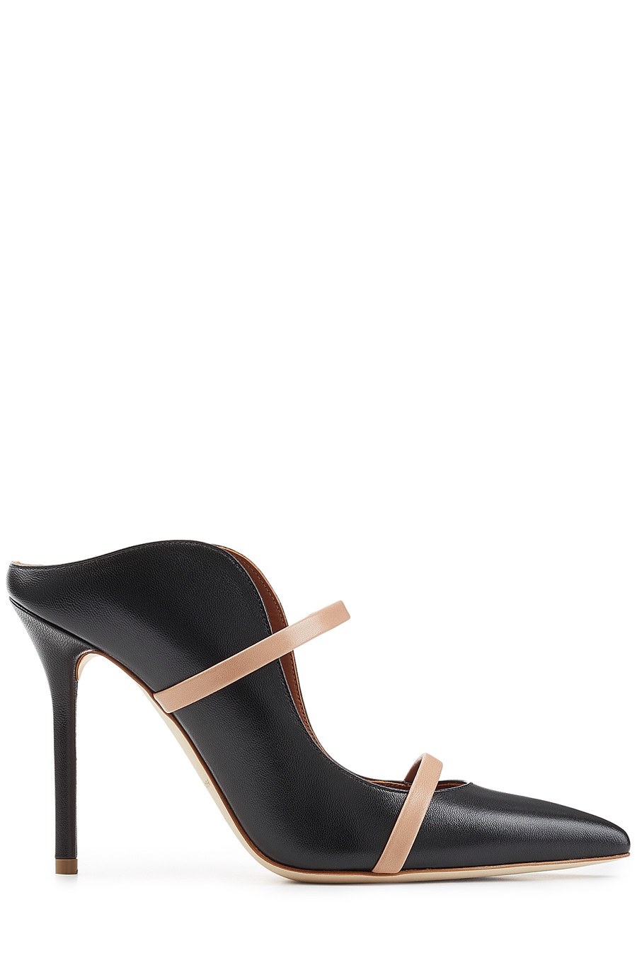 34b02bc9a3 Malone Souliers Maureen Black And Nude Nappa Leather High Heel Mules ...