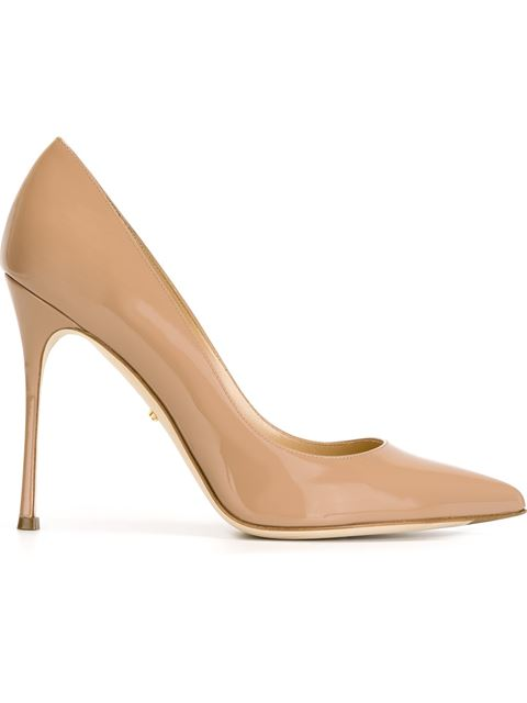 Sergio Rossi Godiva Leather Pointed Pumps In Pink