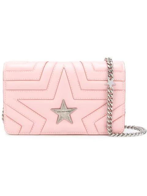 Stella Mccartney Women's Cross-body Messenger Shoulder Bag  Small Stella Star In Pink