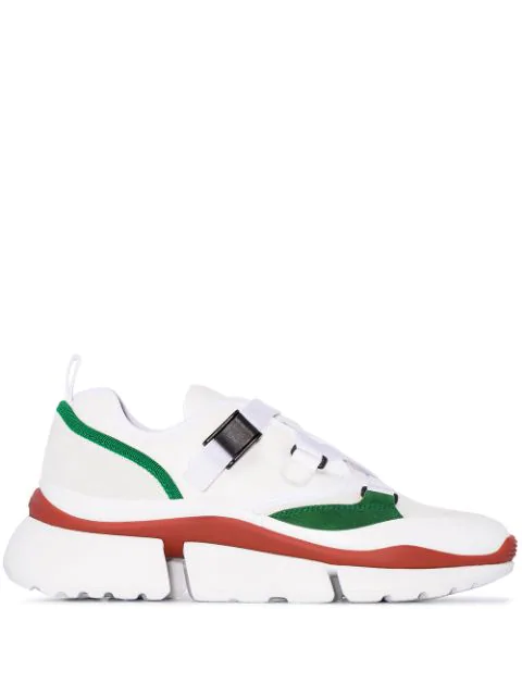 ChloÉ Chloe Sonnie Leather Velcro Strap Sneakers In White