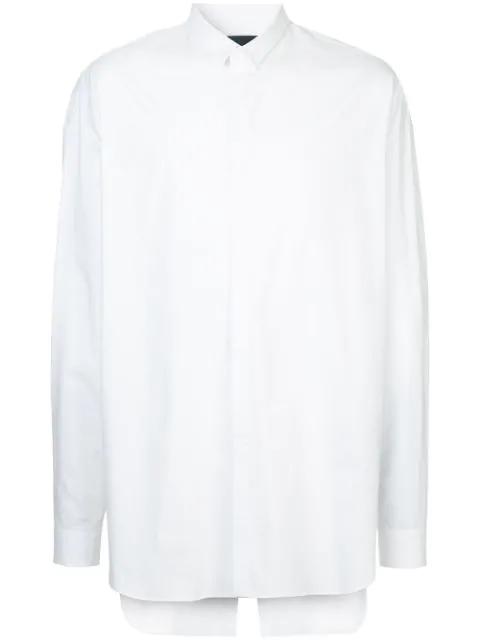Juun.j Split Back Shirt In White