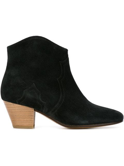 Isabel Marant Étoile Dicker 55mm Suede Ankle Boots In Black