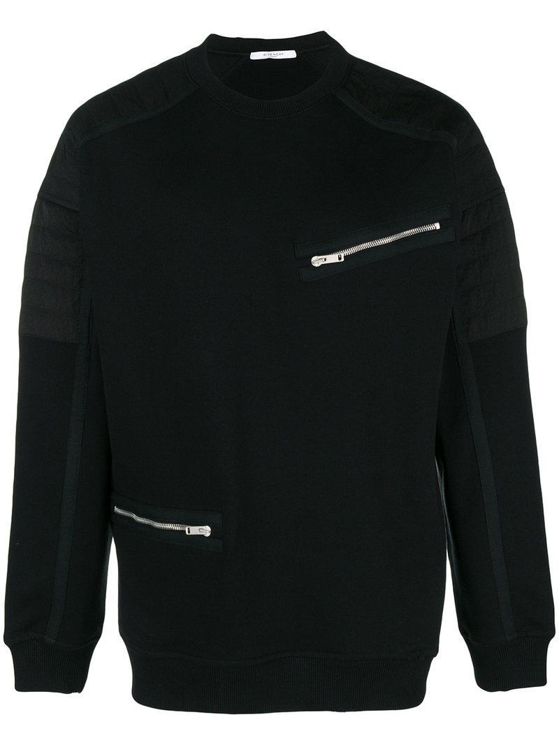 Givenchy Biker Sweatshirt In Black