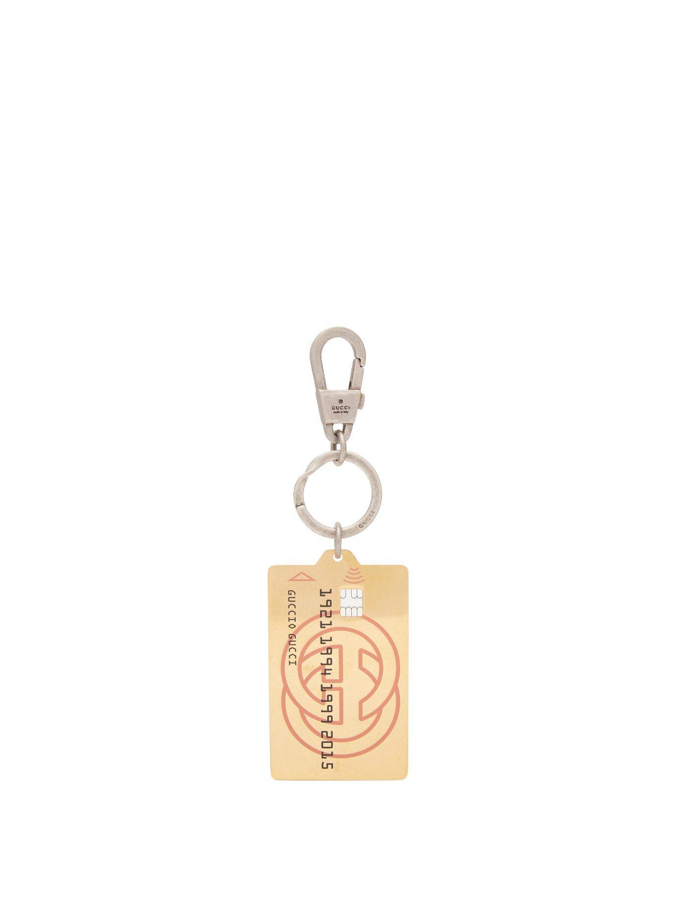 082a1eecc5ae4 Gucci Gold Credit Card Key Ring In Metallic