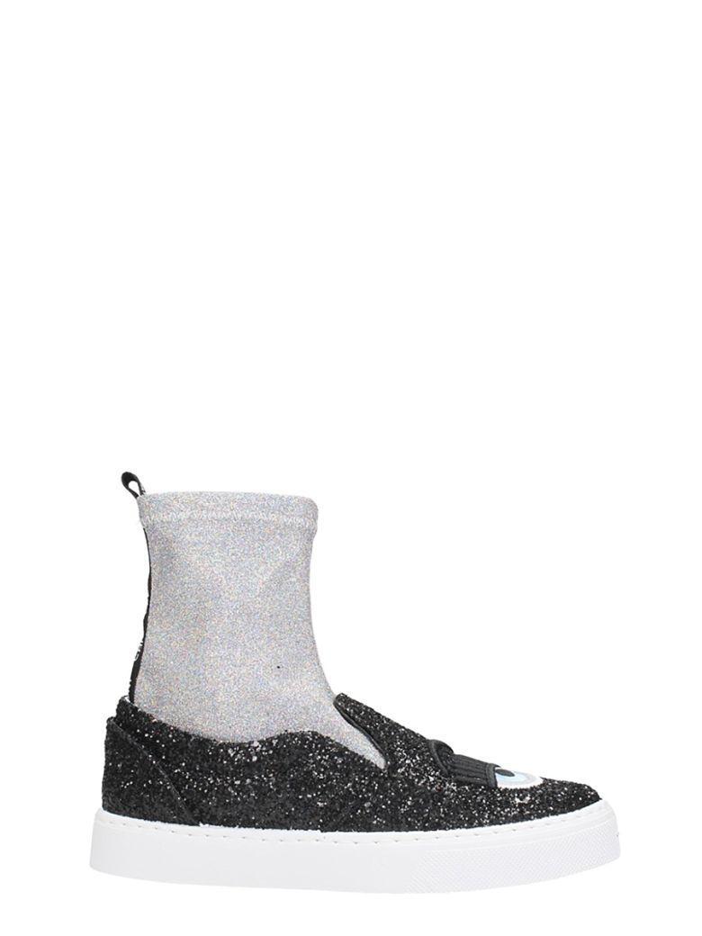 fb4842459 Chiara Ferragni Sock Flirting Sneakers In Black | ModeSens