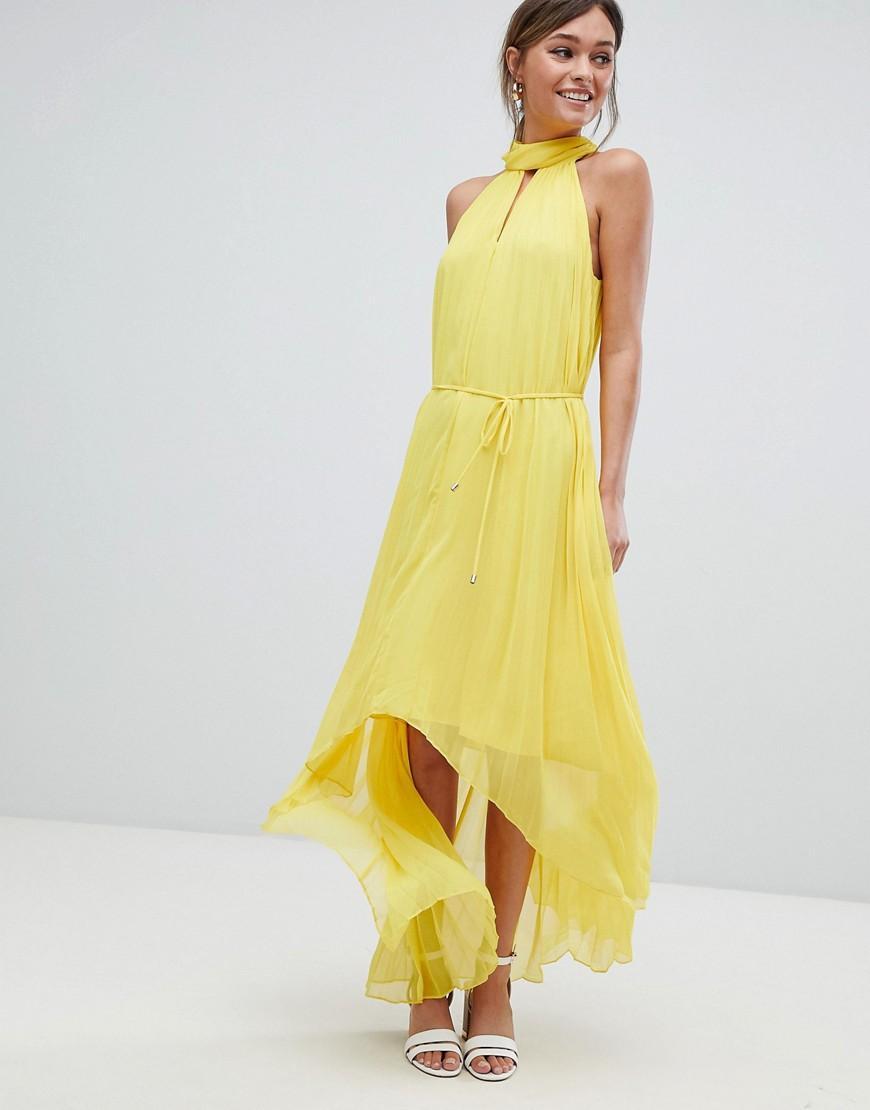 4b30e55f6a3ddf Ted Baker Pleated Collar Maxi Dress - Yellow