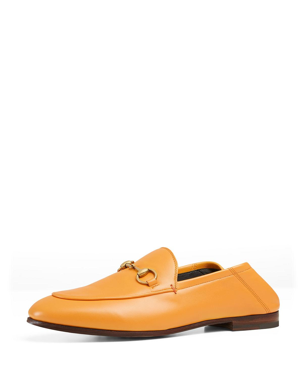 6b3bf22d8a90 Gucci Yellow Brixton Horsebit Loafers In Yellow   Orange