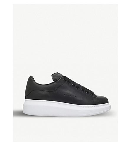 Alexander Mcqueen Black Runway Leather Platform Trainers