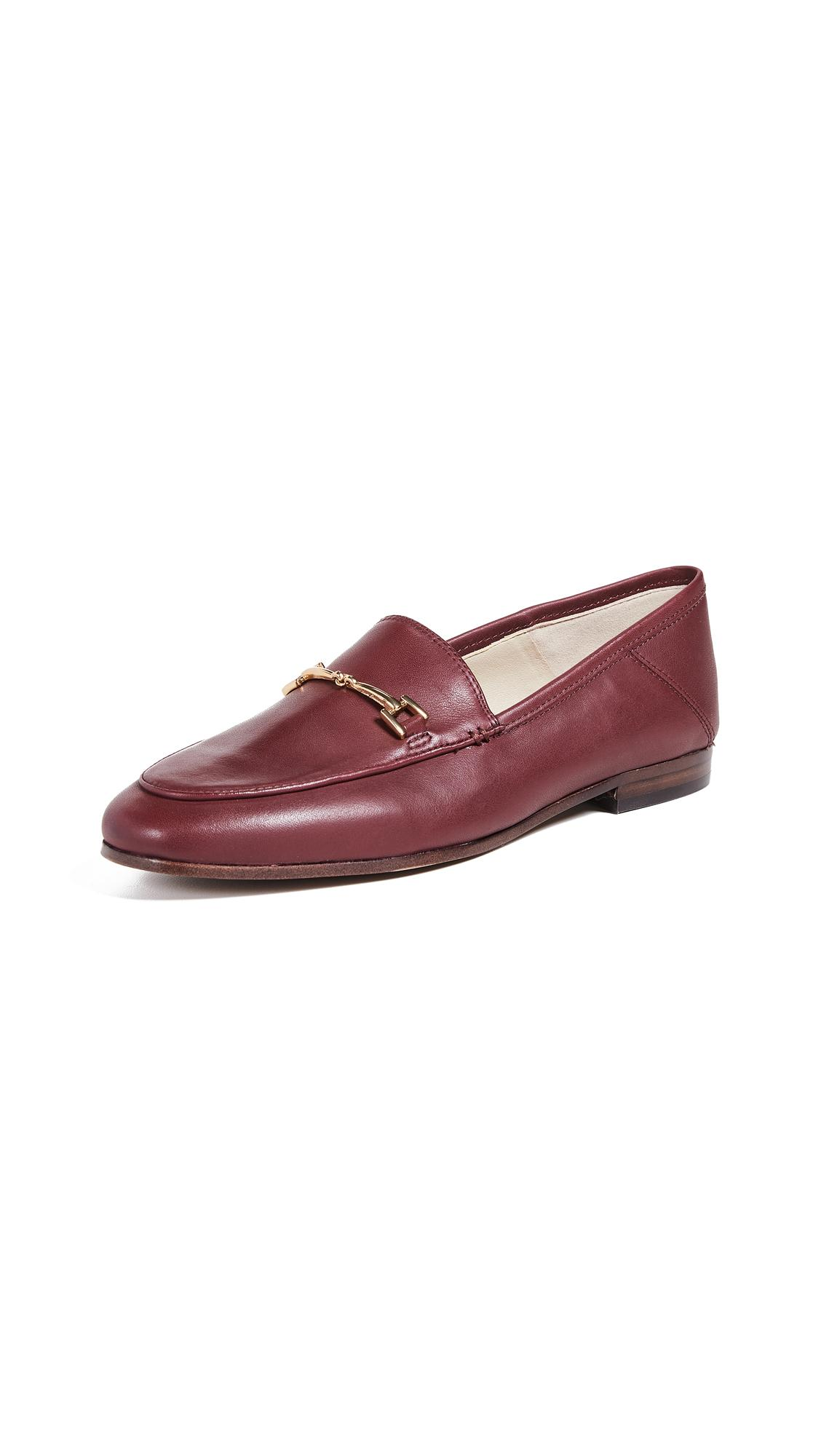 998cae7d53d Sam Edelman Loraine Burgundy Leather Loafers In Beet Red