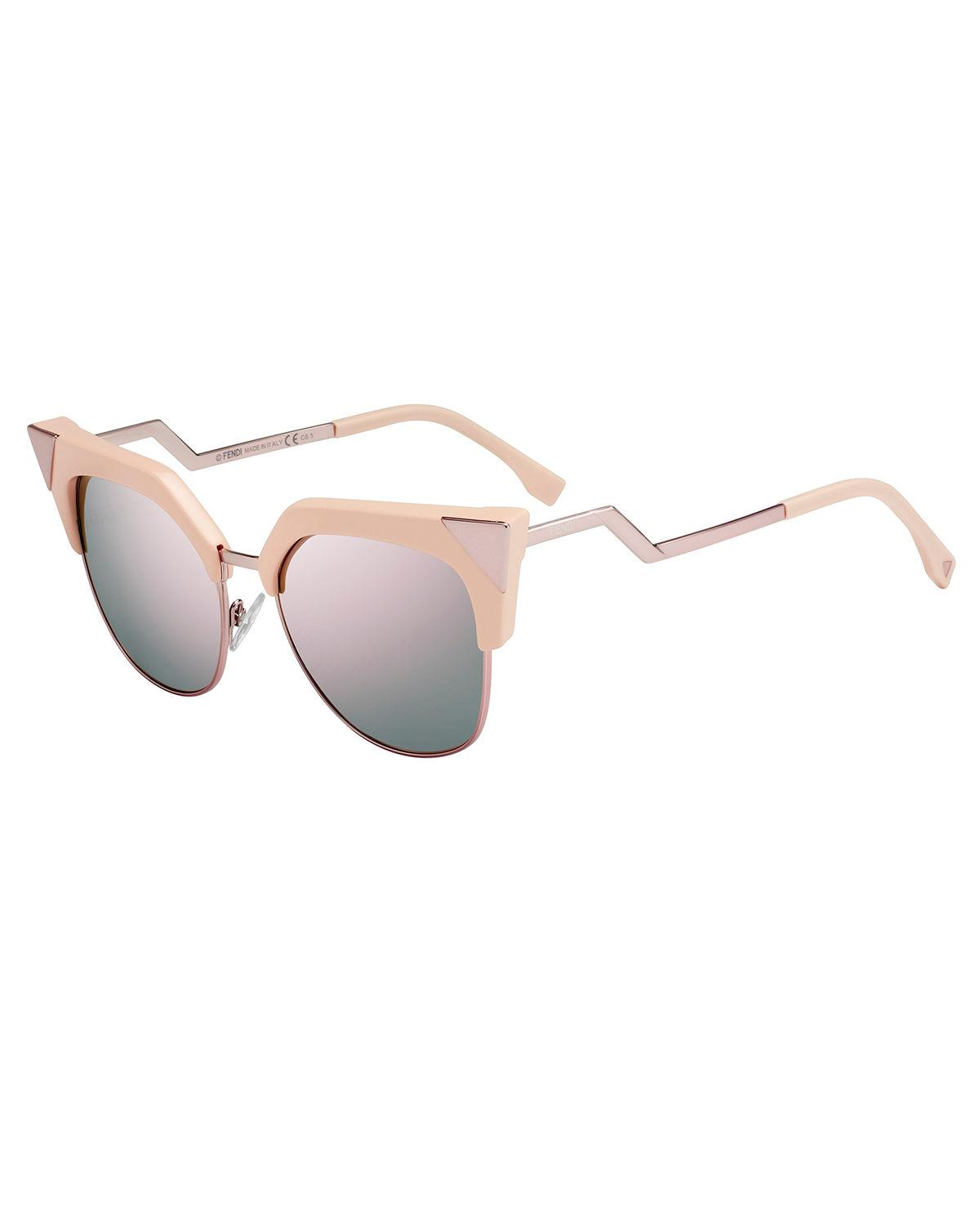 3752dc97e117 Fendi Women s Iridia Mirrored Cat Eye Sunglasses