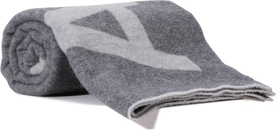 Acne Studios Toronty Logo-jacquard Wool-blend Scarf In Gray