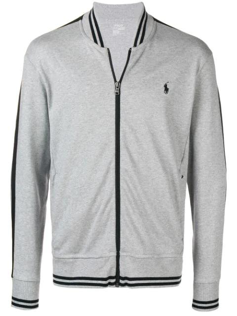 Polo Ralph Lauren Logo Bomber Jacket In Grey