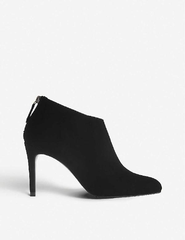 Lk Bennett Emily Suede Ankle Boots In Bla-black