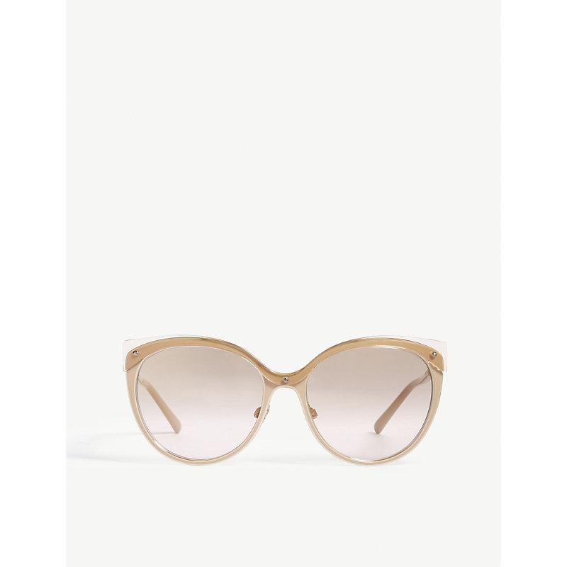 49f64bc6f8d Burberry Mirrored Cat-Eye Metal Sunglasses In Gold Mirror Brown ...