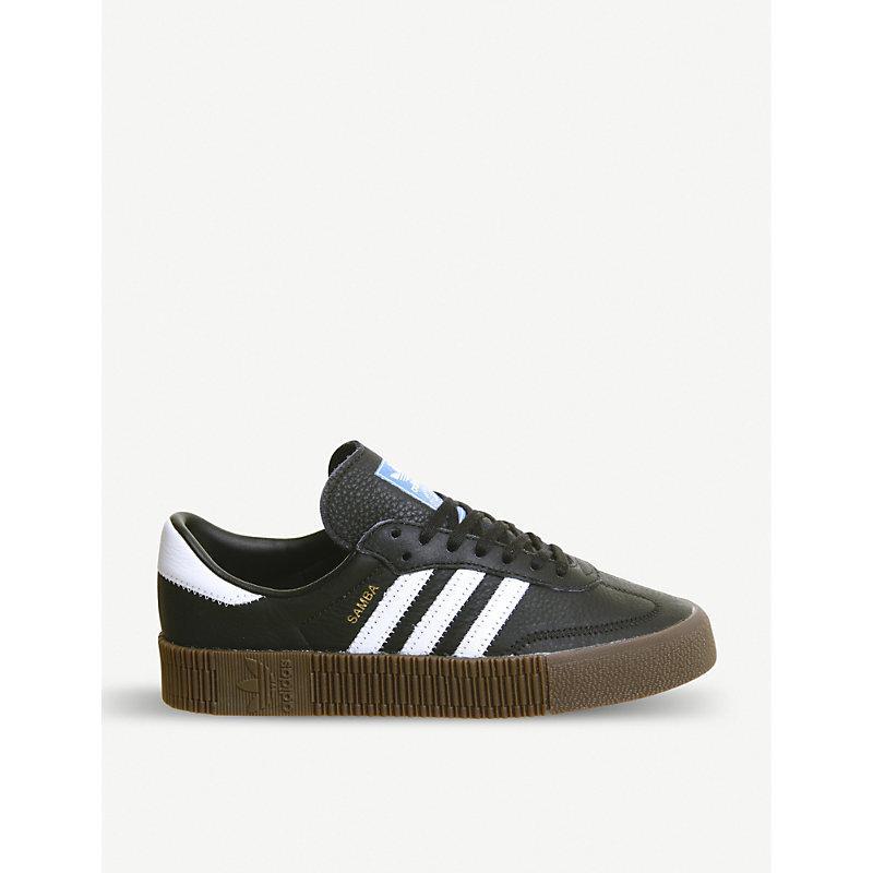 online store 320c8 87ea7 Adidas Originals Samba Rose Sneakers In Black With Dark Gum Sole - Black