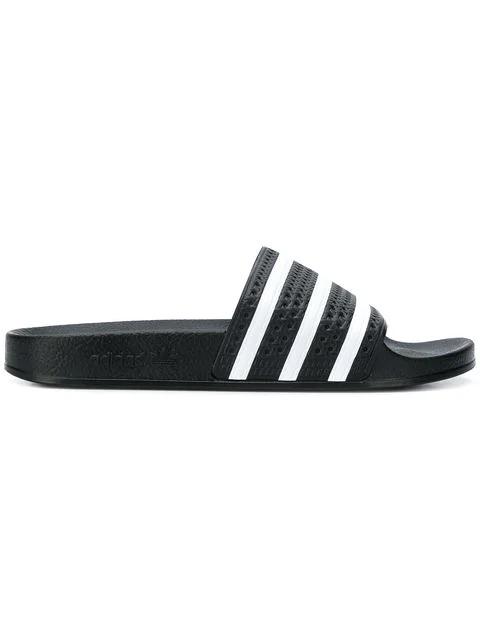 Adidas Originals Adidas Women's Adilette Cloudfoam Plus Slide Sandals From Finish Line In Black