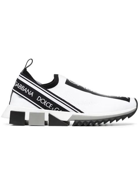 Dolce & Gabbana Dolce And Gabbana White Logo Sorrento Runner Sneakers