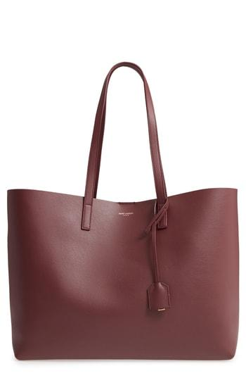 36447dbba2b 'SHOPPING' LEATHER TOTE - GREY