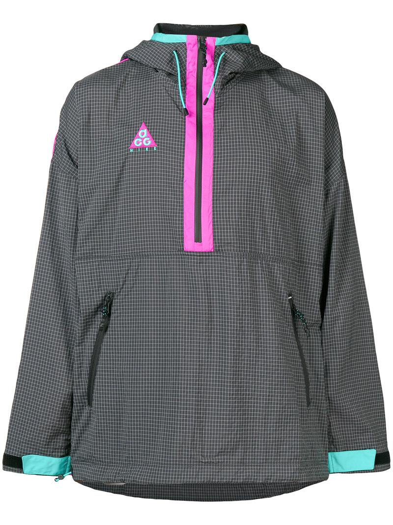 93c67ff163a1 Nike Acg Colour-Block Nylon-Blend Ripstop And Shell Hooded Jacket In Grey