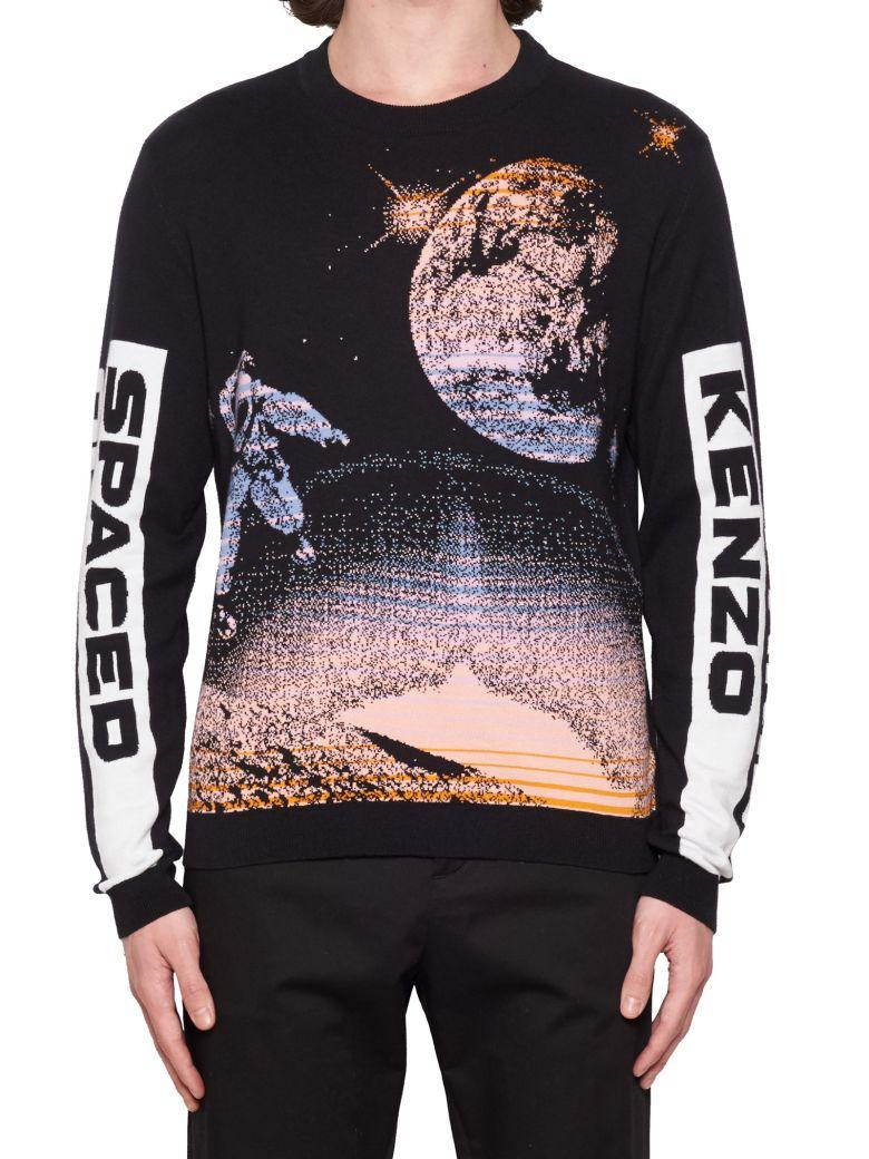 9463f2eb Kenzo Logo Intarsia-Knit Cotton And Wool-Blend Sweater In 99 Black ...