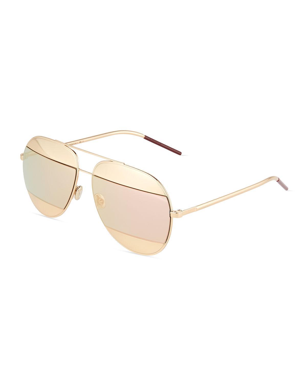 4296ed4a17 Dior Women s Split Mirrored Aviator Sunglasses