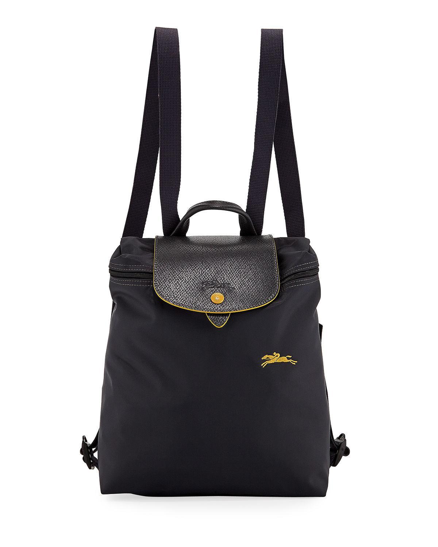 d271efab848c4 Longchamp Le Pliage Club Nylon Backpack In Gunmetal