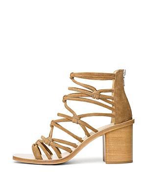 4da82bda99d Rag   Bone Camille MacramÉ Suede Block Heel Sandals In Tan