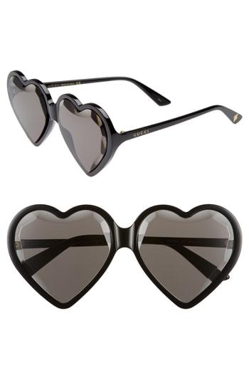 29a9c94451a Gucci Forever Hollywood Heart-Shaped Acetate Sunglasses In White ...