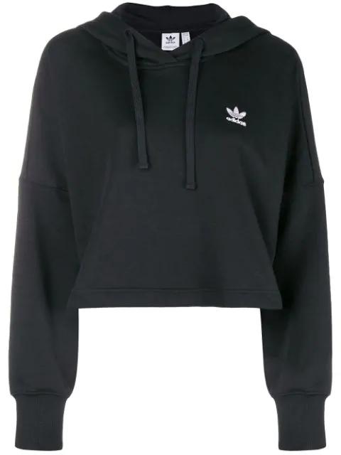 Adidas Originals Adidas  Styling Complements Cropped Hoodie - Black