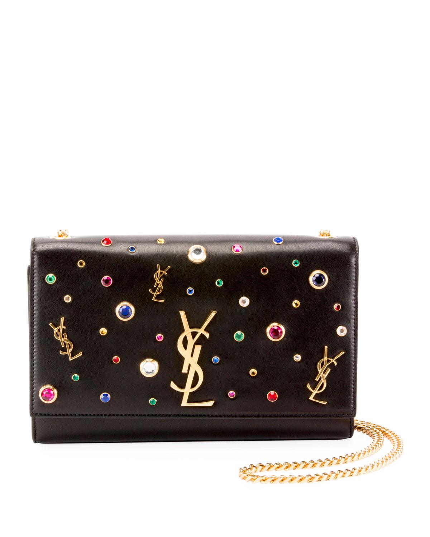 b33f66de12 Kate Monogram YSL Medium Jewel-Stud Chain Shoulder Bag