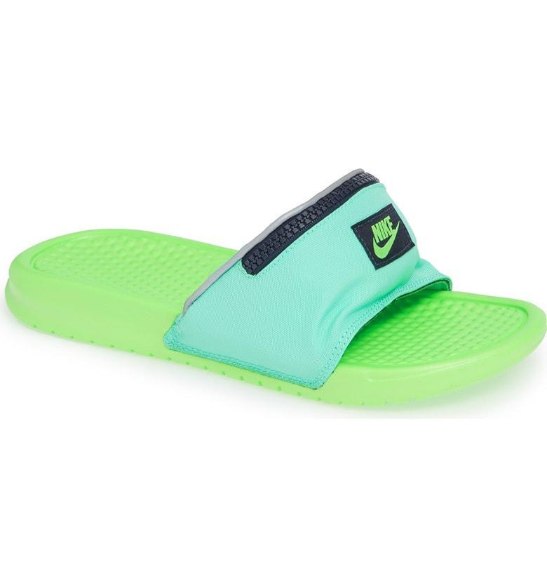 205ad6883010 Nike Men s Benassi Jdi Fanny Pack Slide Sandals From Finish Line In Green