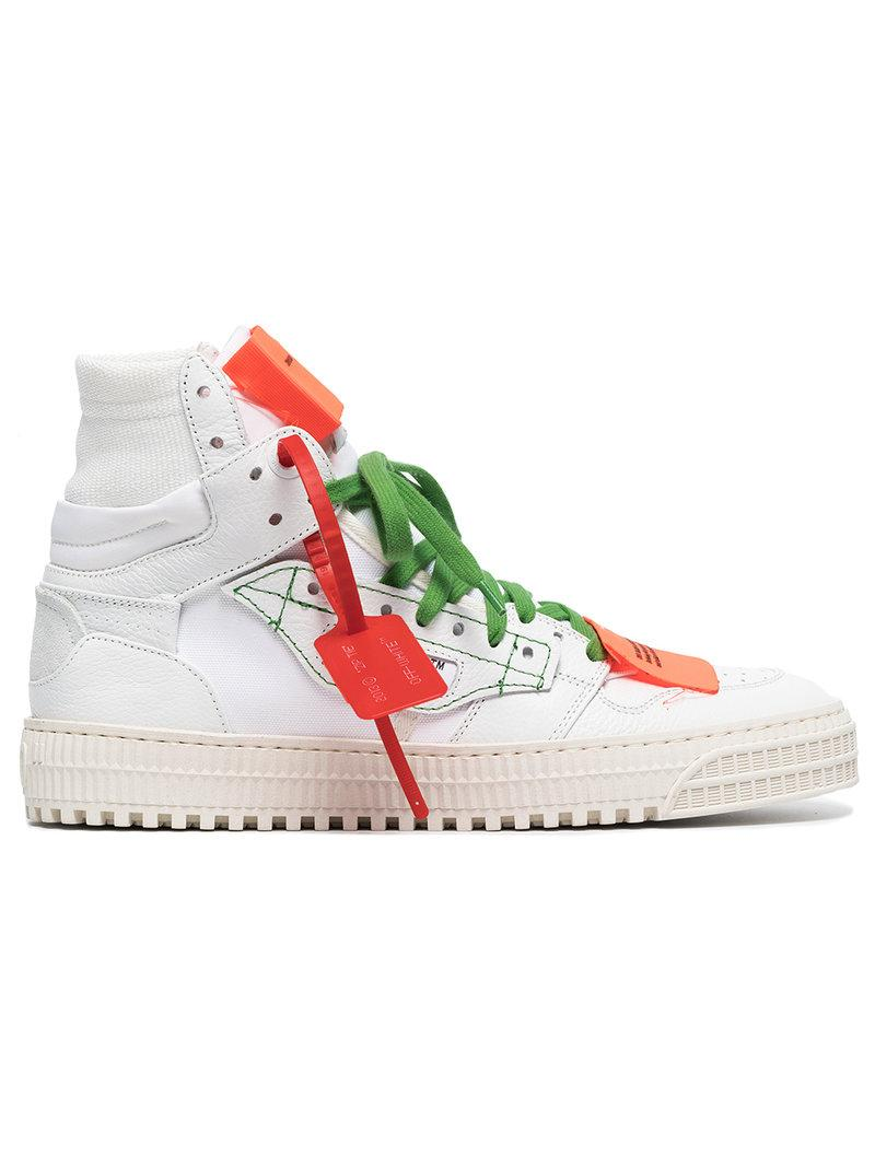Off-white Off Court 3.0 White Leather Hi-top Sneakers