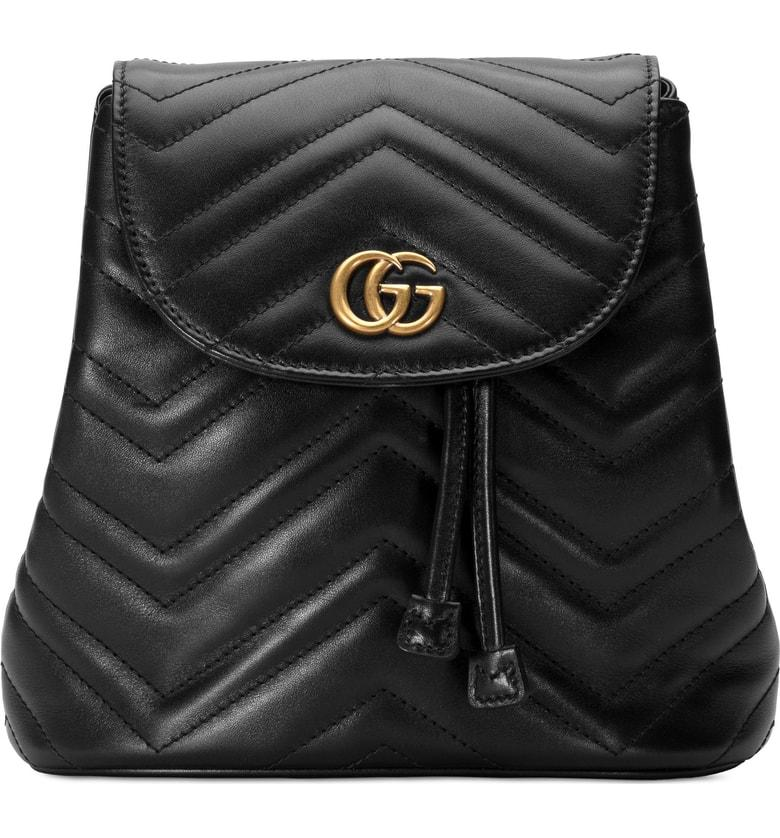 Gucci Gg Marmont 2.0 Matelasse Leather Mini Backpack - Black In 1000 Black 7a546d20cd537