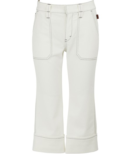 ChloÉ Cropped Jeans In Off-white