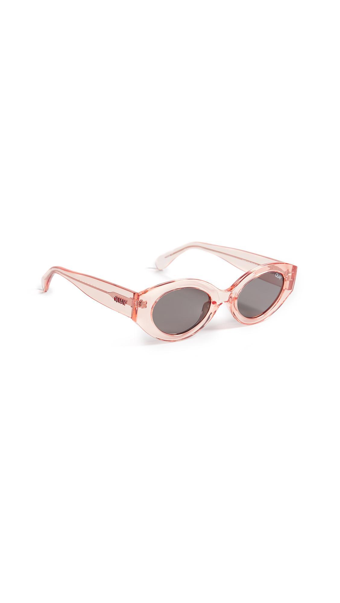 10a14ada99b Quay See Me Smile 50Mm Cat Eye Sunglasses - Rose  Smoke In Rose Smoke