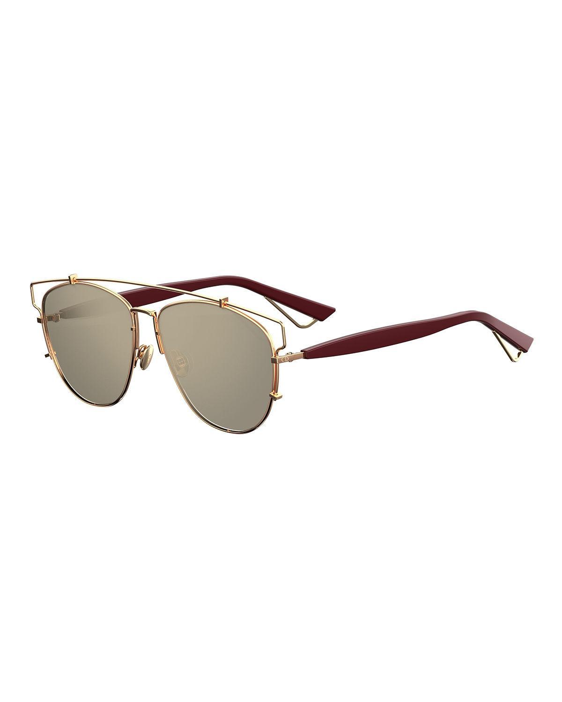 0d533736f23e Dior Technologic 57Mm Brow Bar Sunglasses - Dark Ruthenium  Pink In Black